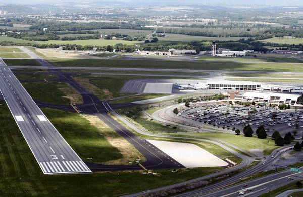 Areal photograph of Lehigh Valley International Airport, Thursday, June 15, 2006.