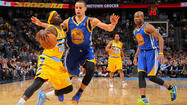 DENVER -- Stephen Curry scored 30 points and had 13 assists, and the hot-shooting Golden State Warriors beat the Denver Nuggets 131-117 on Tuesday night to even the Western Conference quarterfinal series at a game apiece.