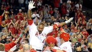 A frustration-filled game ended in jubilation for the Angels on Tuesday night when Howie Kendrick hit the team's second walk-off home run in three days, a solo shot to center that gave the Angels a 5-4, 11-inning victory over the Texas Rangers.
