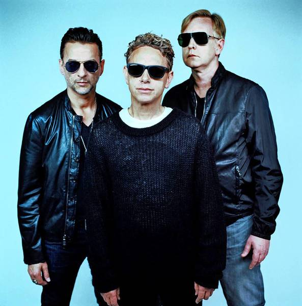 Dave Gahan, left, Martin Gore and Andrew Fletcher of Depeche