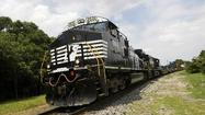 Norfolk Southern Corp. reported a 10 percent higher net income in this year's first quarter compared to last year's.