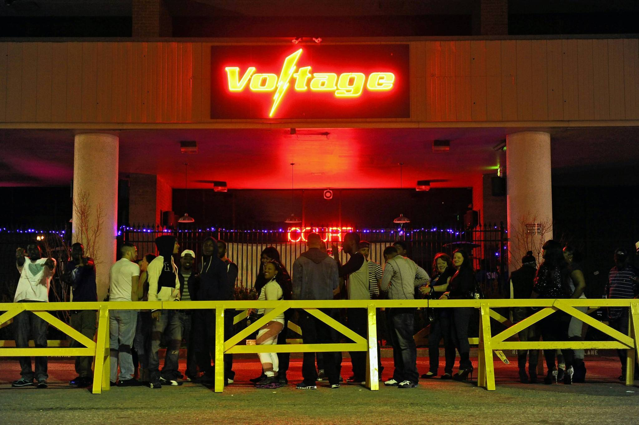 The line outside Voltage Nightclub, near the Baltimore Travel Plaza.