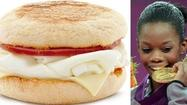The 250-calorie Egg White Delight, and Gabby Douglas tasting her gold medal.