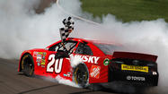 The Associated Press has learned the engine in Matt Kenseth's race-winning car from Kansas failed inspection at NASCAR's Research and Development Center.