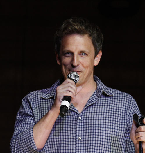 Seth Meyers at The Vic Theater during the TBS Just for Laughs festival in 2011.