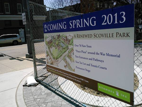 Scoville Park is expected to reopen in June.