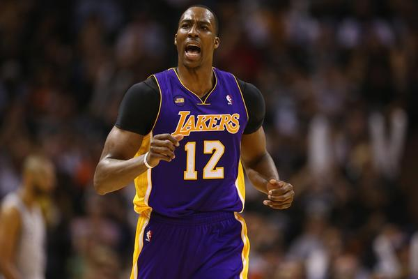Lakers center Dwight Howard led the league in rebounding and was fifth in blocked shots but was 14th in the voting for defensive player of the year.