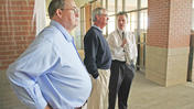 Jessamine County school board tours Red Oak Elementary construction