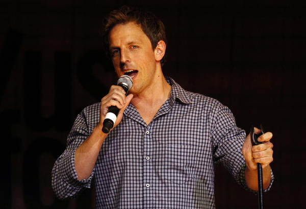 Seth Meyers performs at The Vic Theater during the 2011 TBS Just for Laughs festival.
