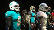 New Miami Dolphins uniforms.
