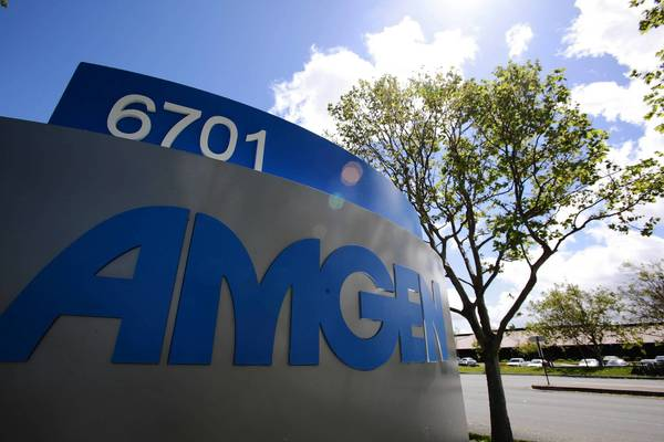 Amgen hopes to capitalize on advances in genetic research to identify promising therapies. Above, the company's offices in Fremont, Calf.