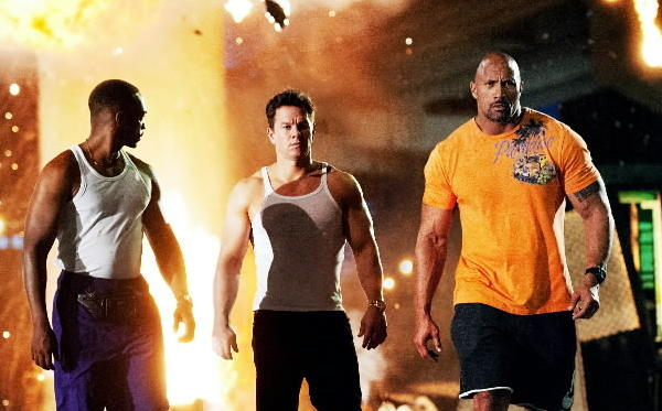 """Anthony Mackie, Mark Wahlberg and Dwayne Johnson star in """"Pain & Gain."""""""