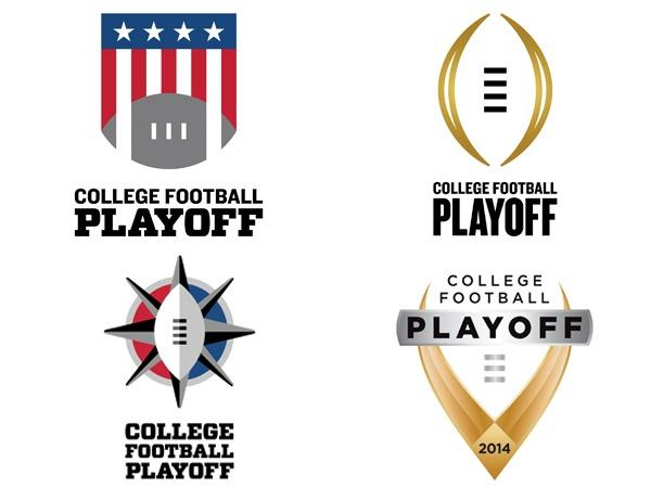 A look at the four logos for the future College Football Playoff.