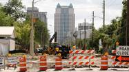 Eight years after landing federal money for the project, the city has finally started a $17 million reconstruction of West Church Street that's meant to dress up a main corridor linking the Florida Citrus Bowl to downtown Orlando.