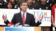 Eric Garcetti's first television ad of the runoff campaign for mayor of Los Angeles touts his record on revitalizing neighborhoods and promises more job training and basic services if he is elected.