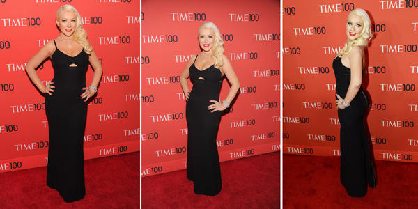 Christina Aguilera slim at Time 100 gala.