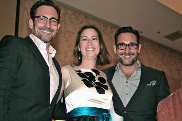 "Big supporters of Soroptimists' ""Bras for a Cause"" are, from left Lawrence Zarian, former Glendale Mayor and current Council Member Laura Friedman and Gregory Zarian."