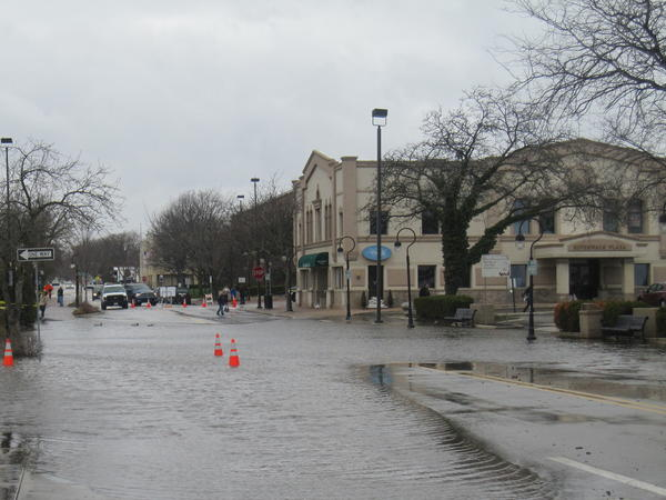 Portions of Jackson Avenue suffered flooding after last week's rain storm.