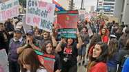 Armenians march, demonstrate in L.A. to protest genocide denial