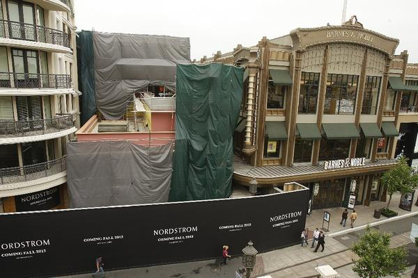 The new Nordstrom under construction at the Americana at Brand shopping center will have an entrance on Brand Boulevard.