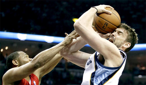 Memphis Grizzlies center Marc Gasol has been named the NBA Defensive Player of the Year award after receiving 30 first-place votes to edge Miami Heat forward LeBron James.