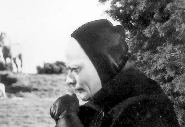 """The Seventh Seal"" features a chess match between Max von Sydow's character, left, and Death."