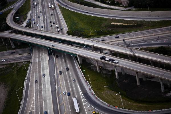 Legislation passed by the state Senate and on its way to the House would raise the speed limit on Illinois interstates, such as Interstates 294 and 90, pictured, to 70 mph.