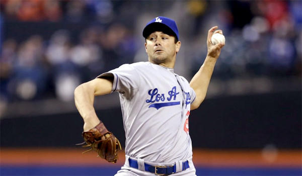 Ted Lilly gave up six hits and one earned run through five innings in his first start for the Dodgers this season.