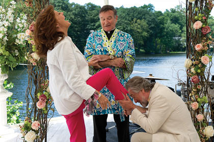 "Bebe (Susan Sarandon, left), Father Moinighan (Robin Williams, center) and Don (Robert De Niro) star in ""The Big Wedding,"" which opens Friday at Carmike Cinema 9 in Aberdeen."
