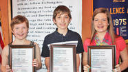 Youth Citizenship Awards given by Exchange Club