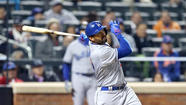NEW YORK — Matt Kemp waited a long time to hit his first home run of the season — 75 homerless at-bats, plus the two minutes and 29 seconds he spent standing at third base while the umpires reviewed video of his opposite-field blast.