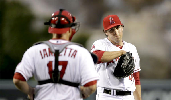 Left-hander Michael Roth lasted just 3 1/3 innings against the Rangers who lit the rookie up with five earned runs on six hits and two walks in the Angels' loss to Texas, 11-3, on Wednesday.