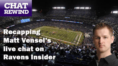 Live Ravens and NFL draft chat with Matt Vensel at 1 p.m.