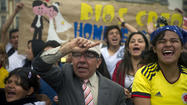 BOGOTA — Colombian lawmakers on Wednesday rejected a polarizing bill to allow same-sex marriage in the predominantly Roman Catholic nation, as hundreds of people took to the streets to demonstrate for and against the measure.