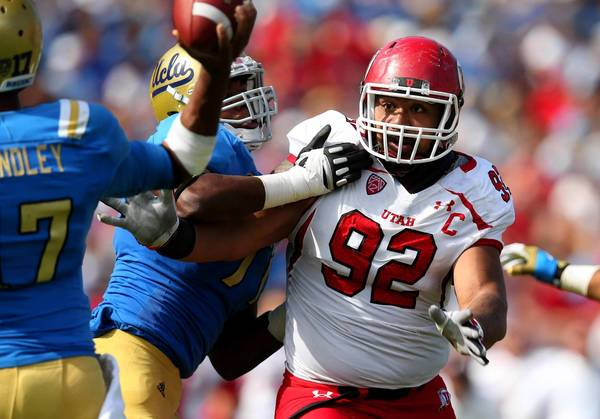 Utah defensive tackle Star Lotulelei is one of the players predicted to be taken by the Eagles in tonight's NFL Draft.