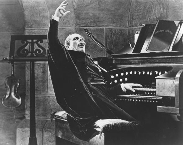 "Lon Chaney in ""The Phantom of the Opera."""