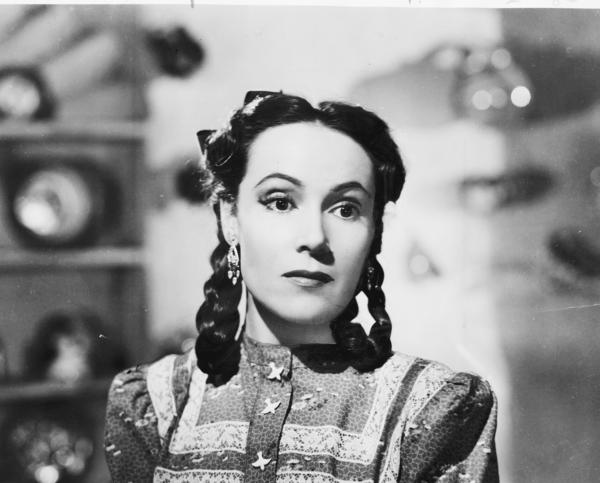"Dolores del Rio in a scene from the film ""Flor Silvestre,"" which was shot by Gabriel Figueroa."