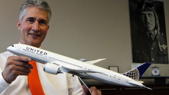 United Continental CEO Jeff Smisek is photographed in his office in 2011.