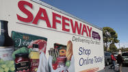 Safeway Inc. stock slid nearly 20% in morning trading Thursday as the Northern California supermarket giant – facing competition from dollar stores and Wal-Mart – reported flat revenue in the first quarter.