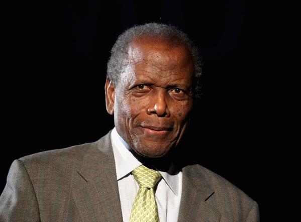 "Actor Sidney Poitier introduces ""In the Heat of the Night"" at AFI Night at the Movies in Hollywood."