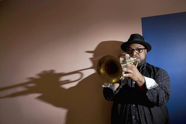 New Orleans trumpeter Nicholas Payton at the Thelonious Monk Institute of Jazz in the Herb Alpert School of Music on the Westwood campus of UCLA.