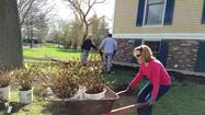 Volunteers Spruce-Up Sage House Landscaping
