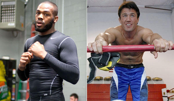 UFC light heavyweight champion Jon Jones, left, will defend his title Saturday night against the vocal Chael Sonnen.