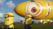 """Despicable Me"" minions and the ""Despicablimp"" visit South Florida"