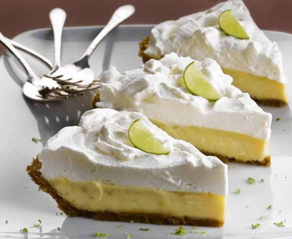 Key lime is the official pie of Florida.