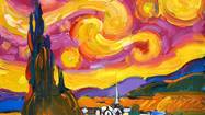 Peter Max will unveil his 'Masters' Series,' in which he interprets famous works by Van Gogh, Monet, Picasso, Renoir and Degas in his signature style