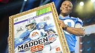 Barry Sanders will grace the cover of the latest installment of the mega-popular Madden video football games 15 years after retiring from the NFL.
