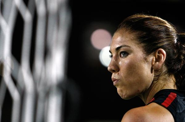 Hope Solo, shown in 2011, had some Twitter fun with her followers this week. Or did she?