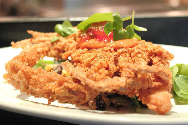 Various dishes featuring soft shell crab will be on the menus at three of Chef Emeril Lagasse's restaurants in Las Vegas from May 6-12.