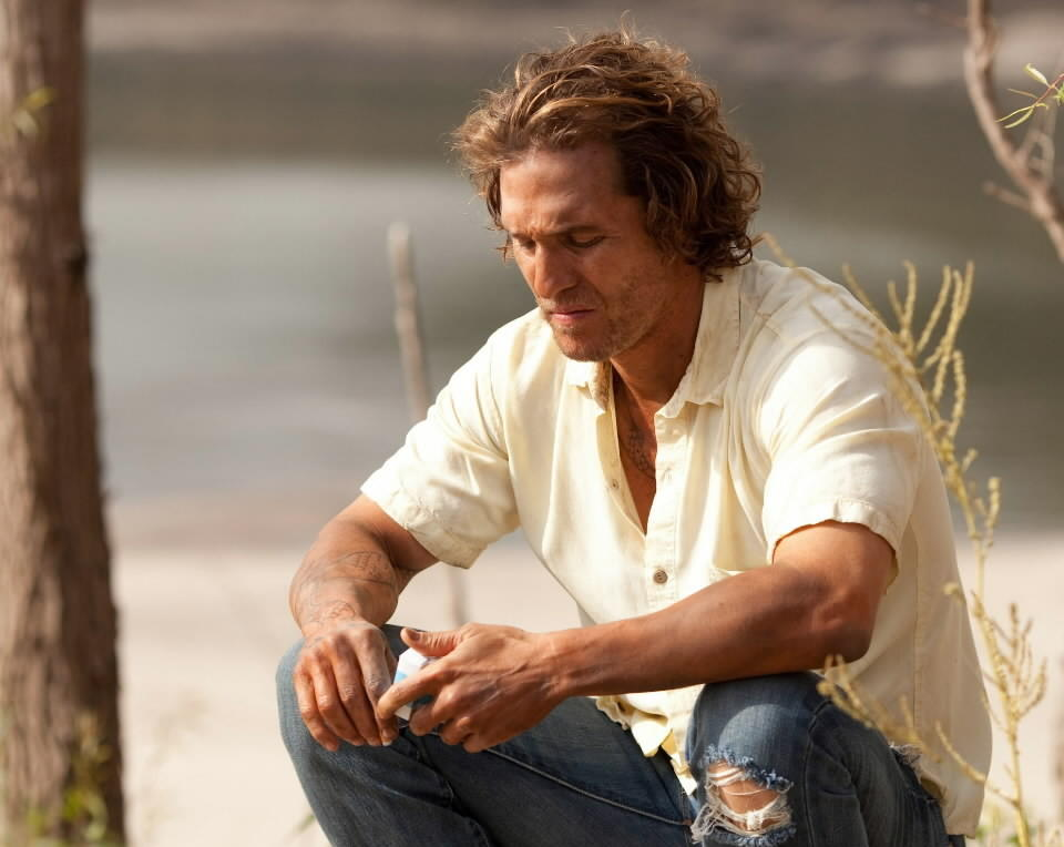 "<b>PG-13; 2:10 running time</b><Br><br>In ""Mud,"" an evocative highlight of the American movie year so far, Matthew McConaughey slips easily into the role of a haunted, lovelorn killer on the lam, hiding out on an island in the Mississippi River along the Arkansas Delta region. Two generations ago, McConaughey's role might've been taken by Paul Newman or the Steve McQueen of ""Baby the Rain Must Fall."" That's formidable company. -- Michael Phillips<br><br><a href=http://www.chicagotribune.com/entertainment/movies/sc-mov-0423-mud-review-20130424,0,5188834.story>Read the full ""Mud"" movie review</a>"